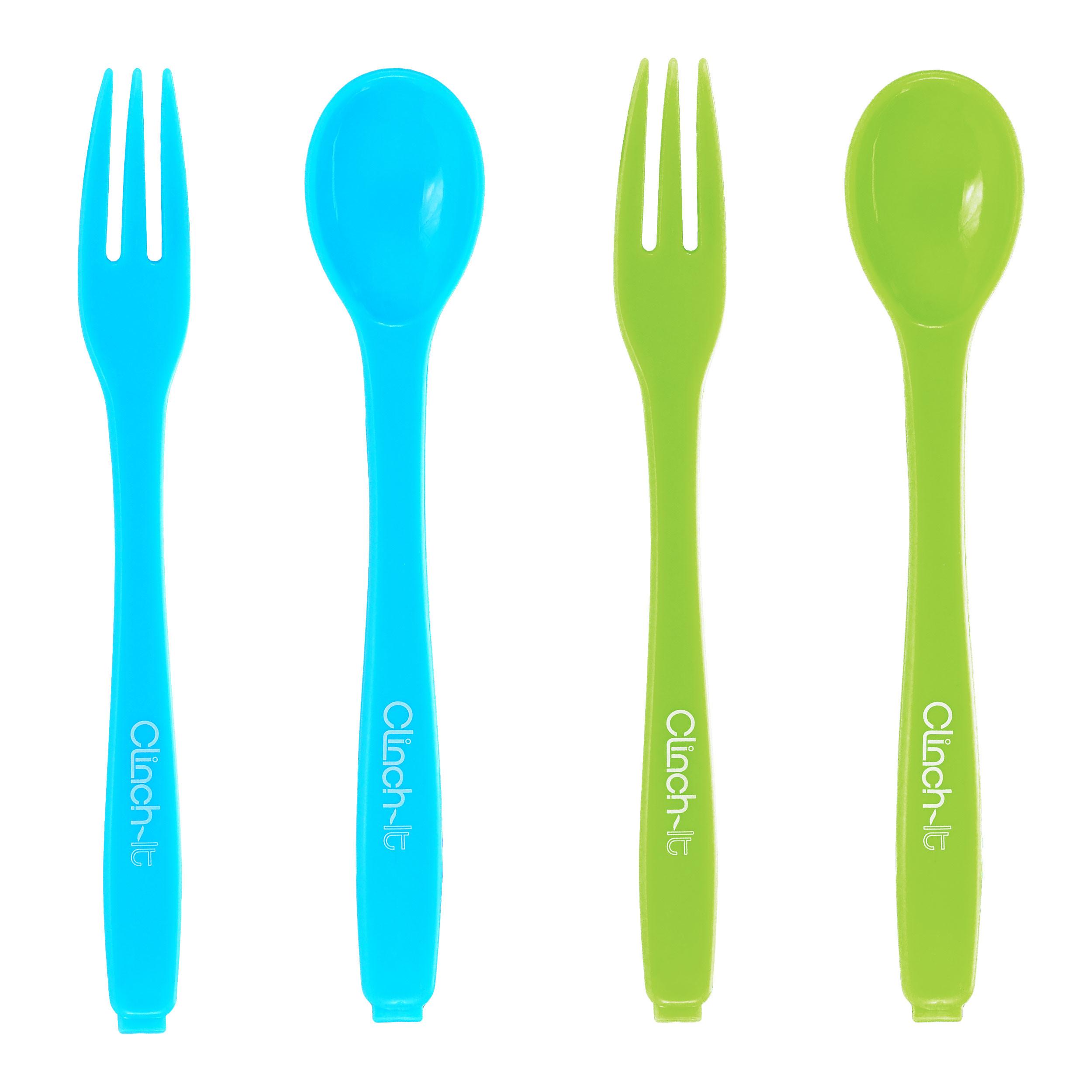 Spoon & Fork Bag Closure Clips, 4pc set